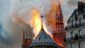 The Fire of the Notre Dame Cathedral in Paris