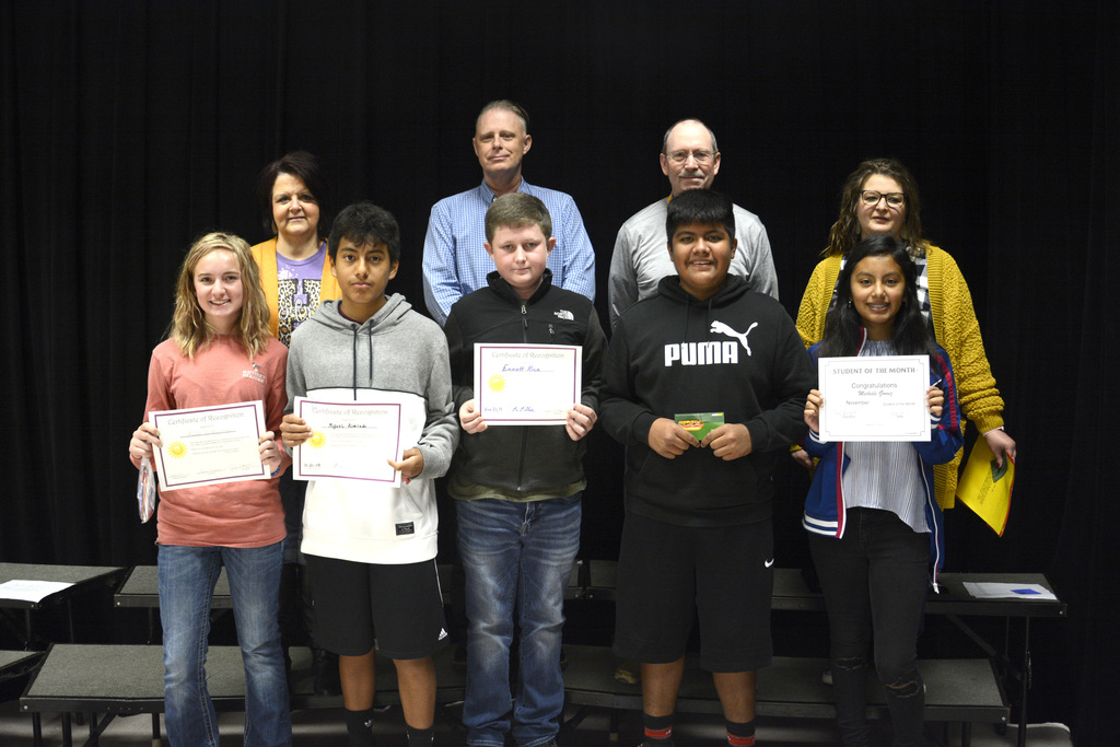 Our HUE 8th Grade Students of the Month