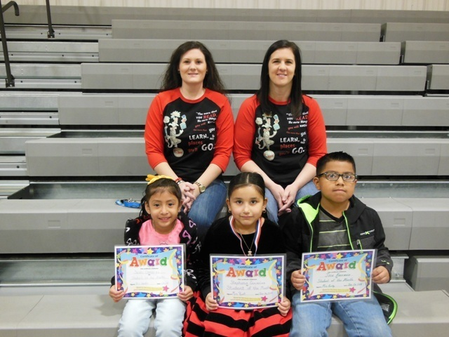 1st grade January Students of the Month