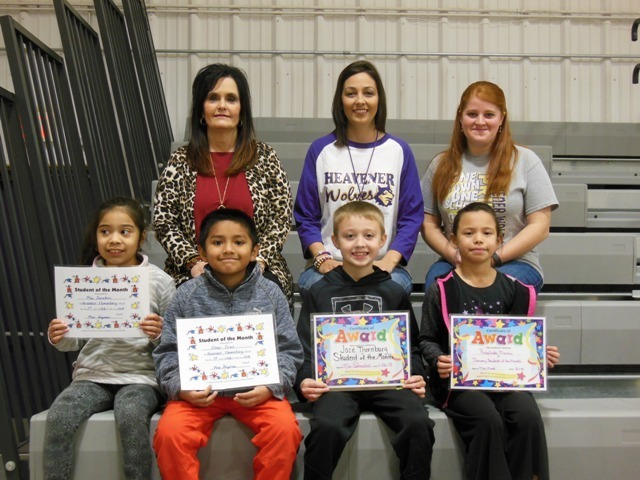2nd grade January Students of the Month